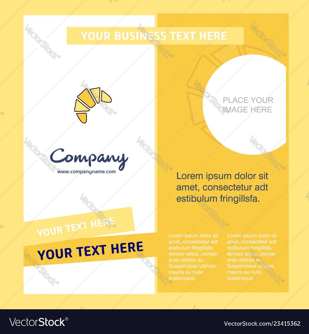 Bun company brochure template busienss template