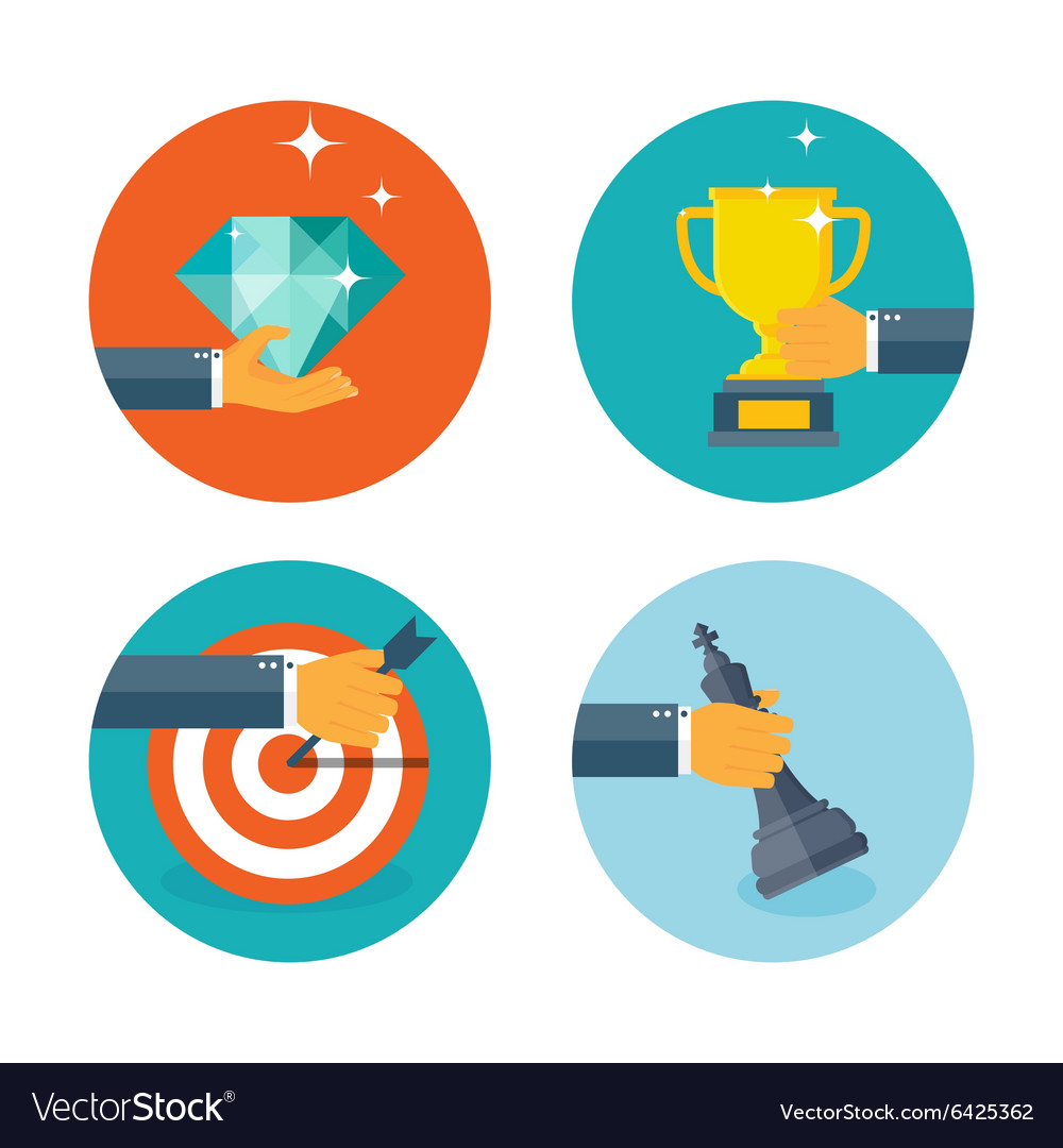 Business aims concept vector image