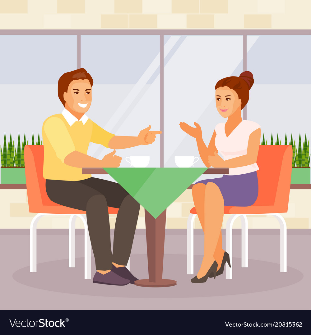 Couple in a cafe