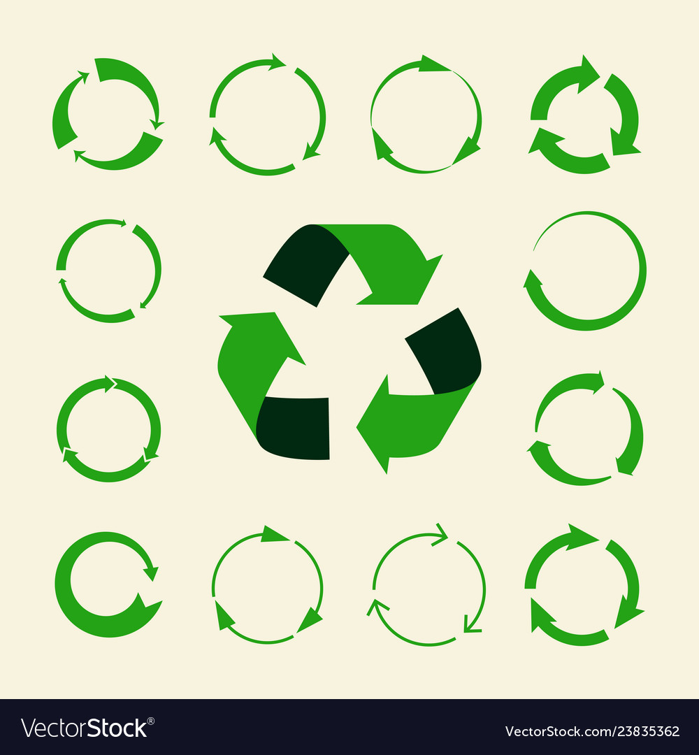 Recycle arrows set - ecology icons