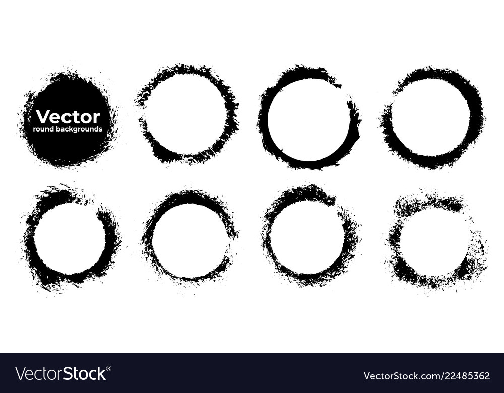 Set black grunge abstract background templates