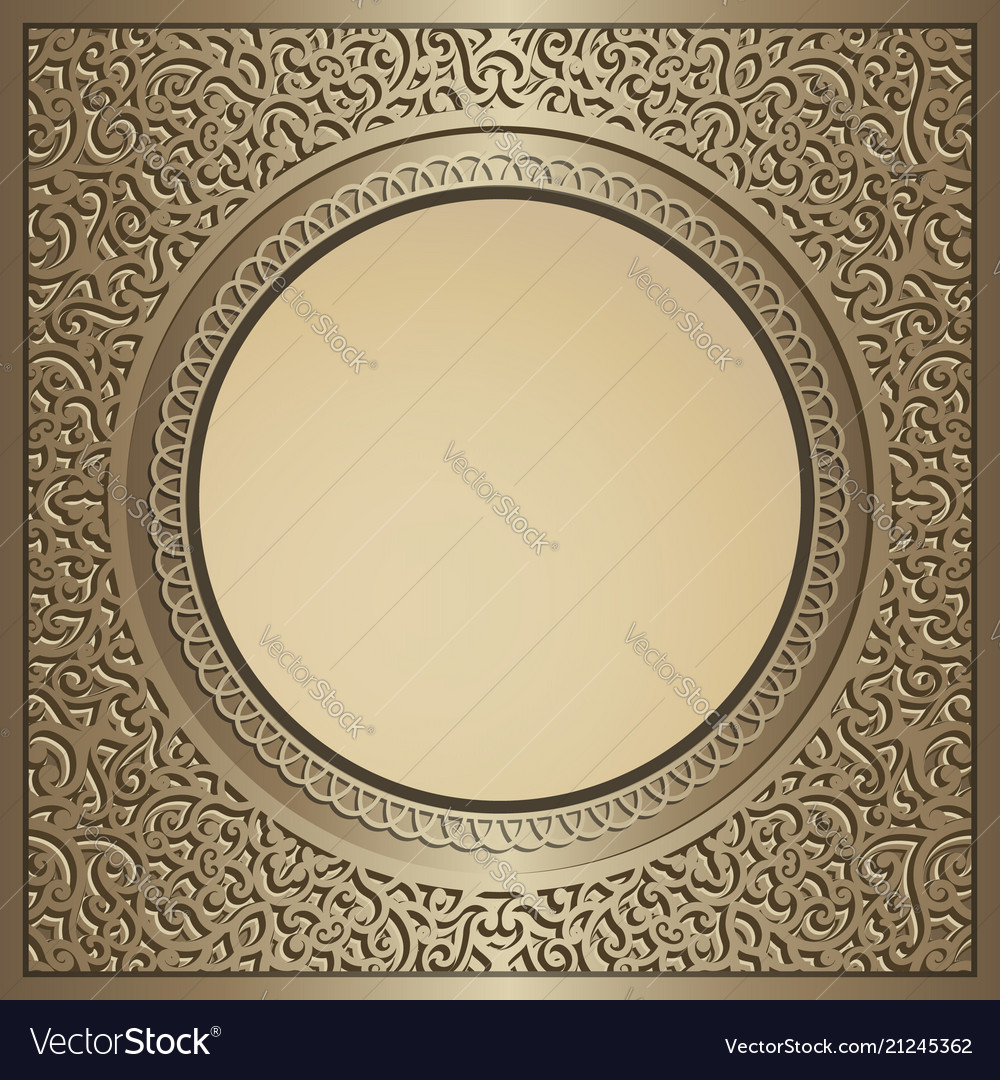 Vintage gold background with swirly pattern