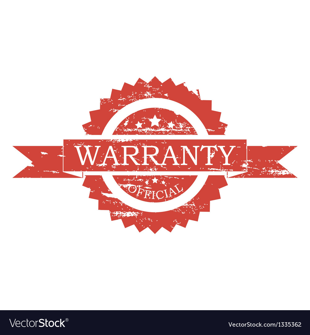 Warranty stamp vector image