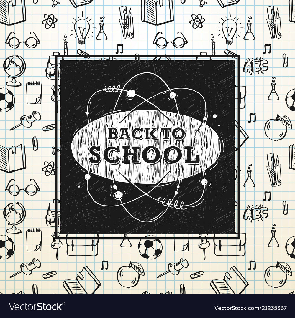 Back to school poster sketchy notebook doodles Vector Image