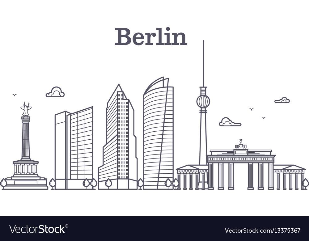 Germany berlin line landscape city