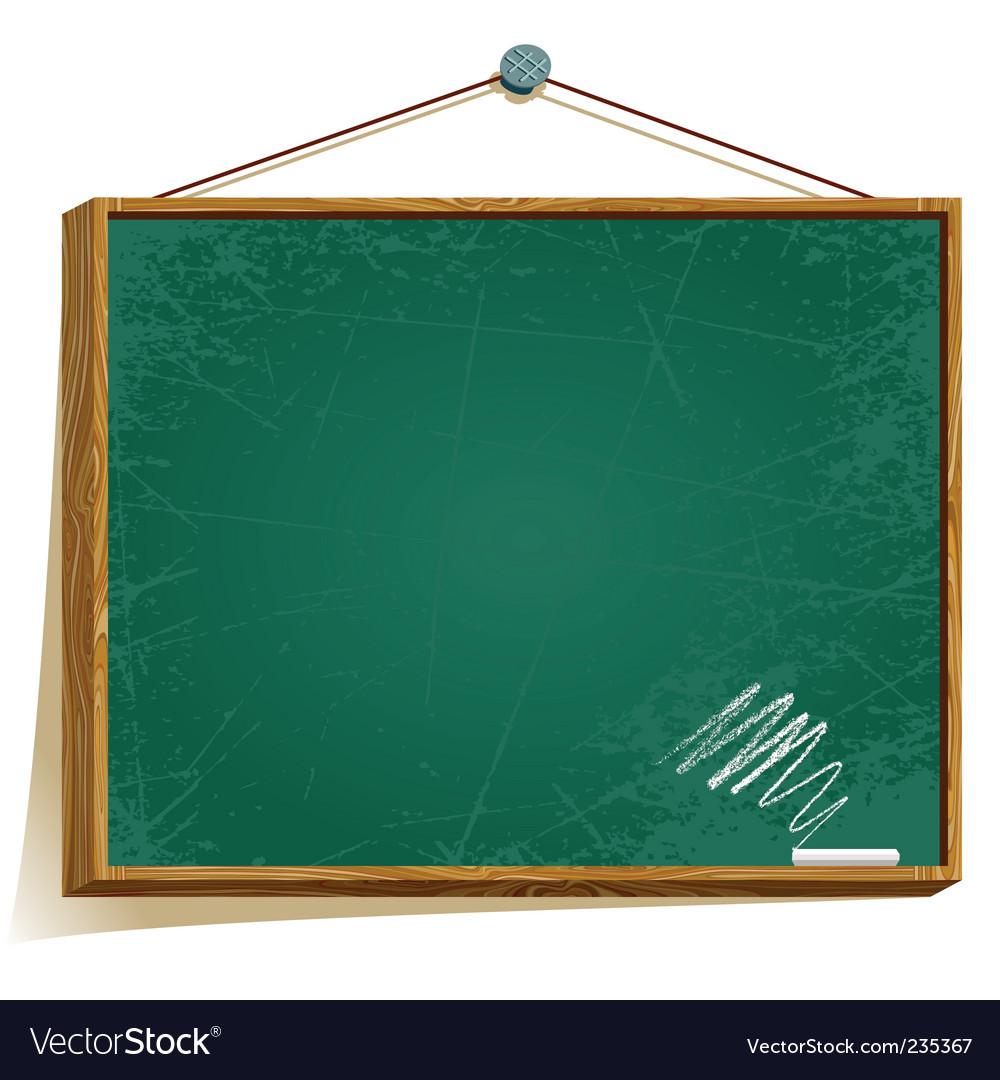 Green board vector image