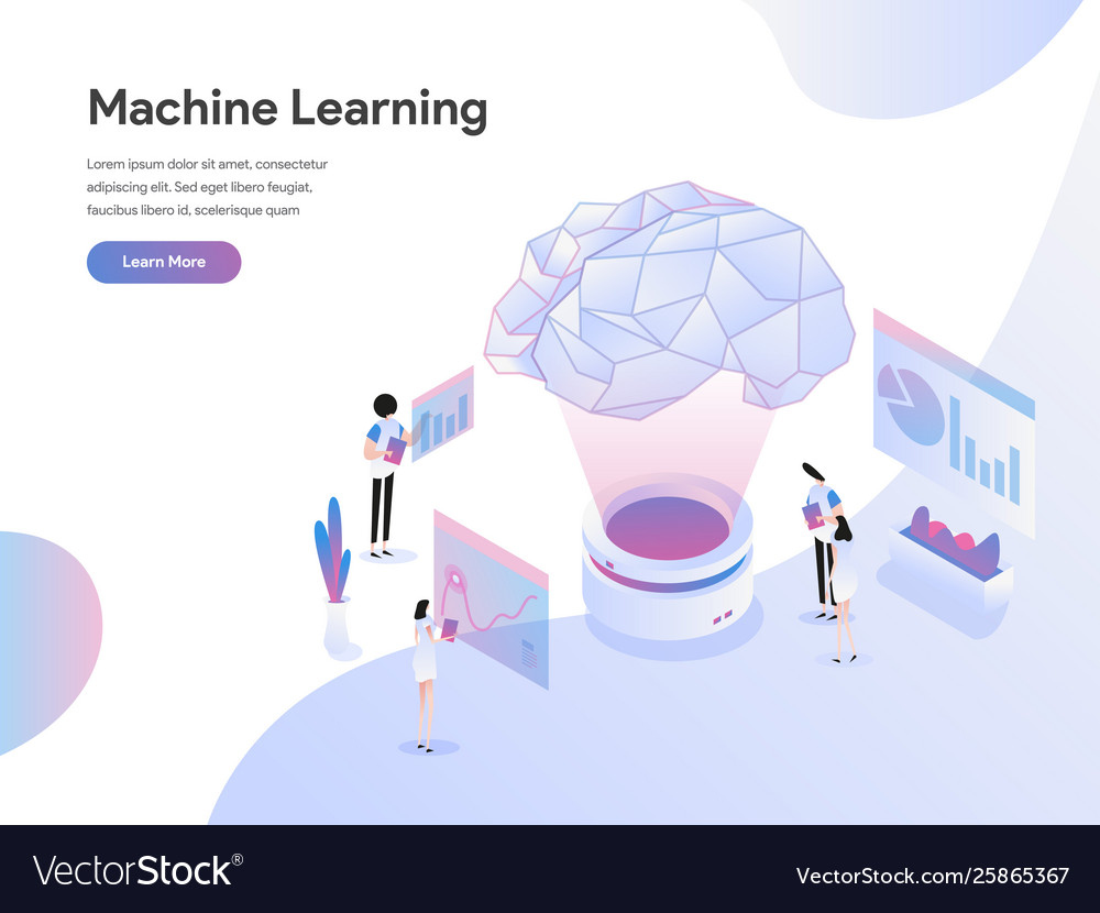 Landing page template machine learning