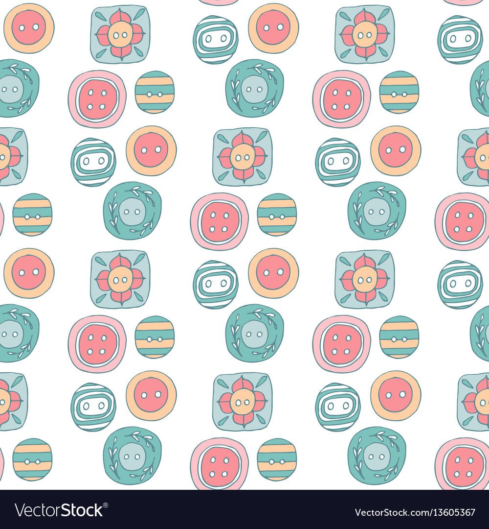 Lovely buttons seamless pattern