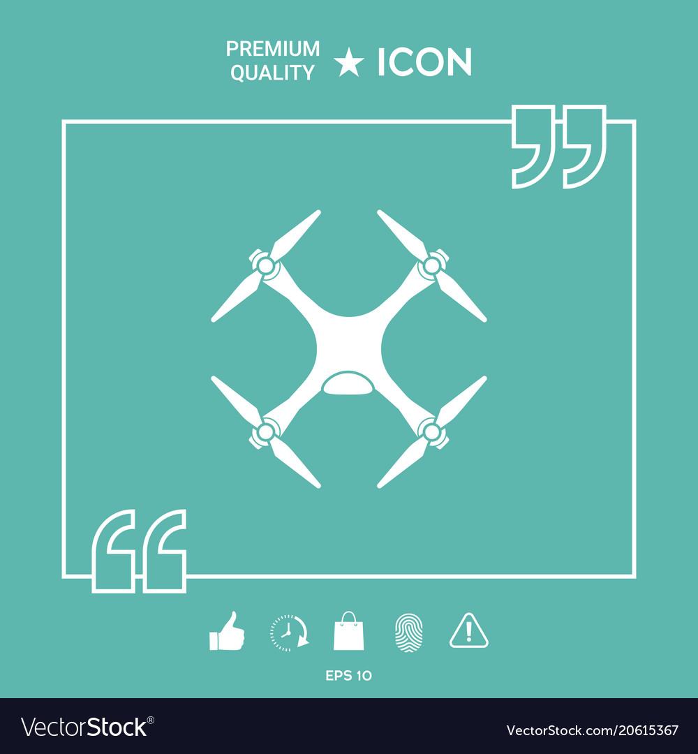 Quadcopter drone icon vector image on VectorStock