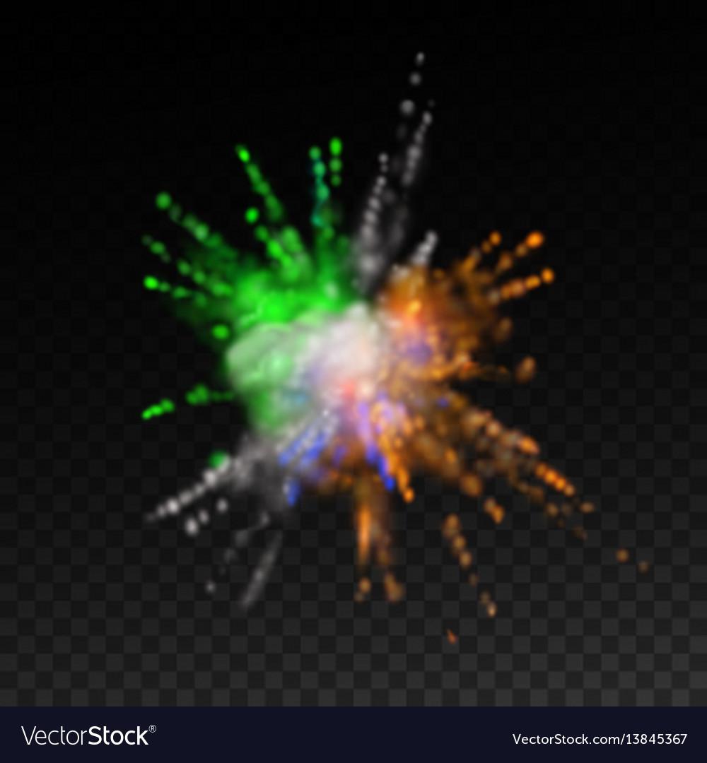 Vibrant paint blast
