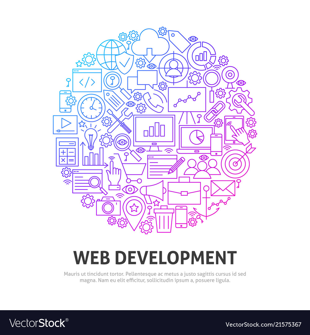 Web development circle concept
