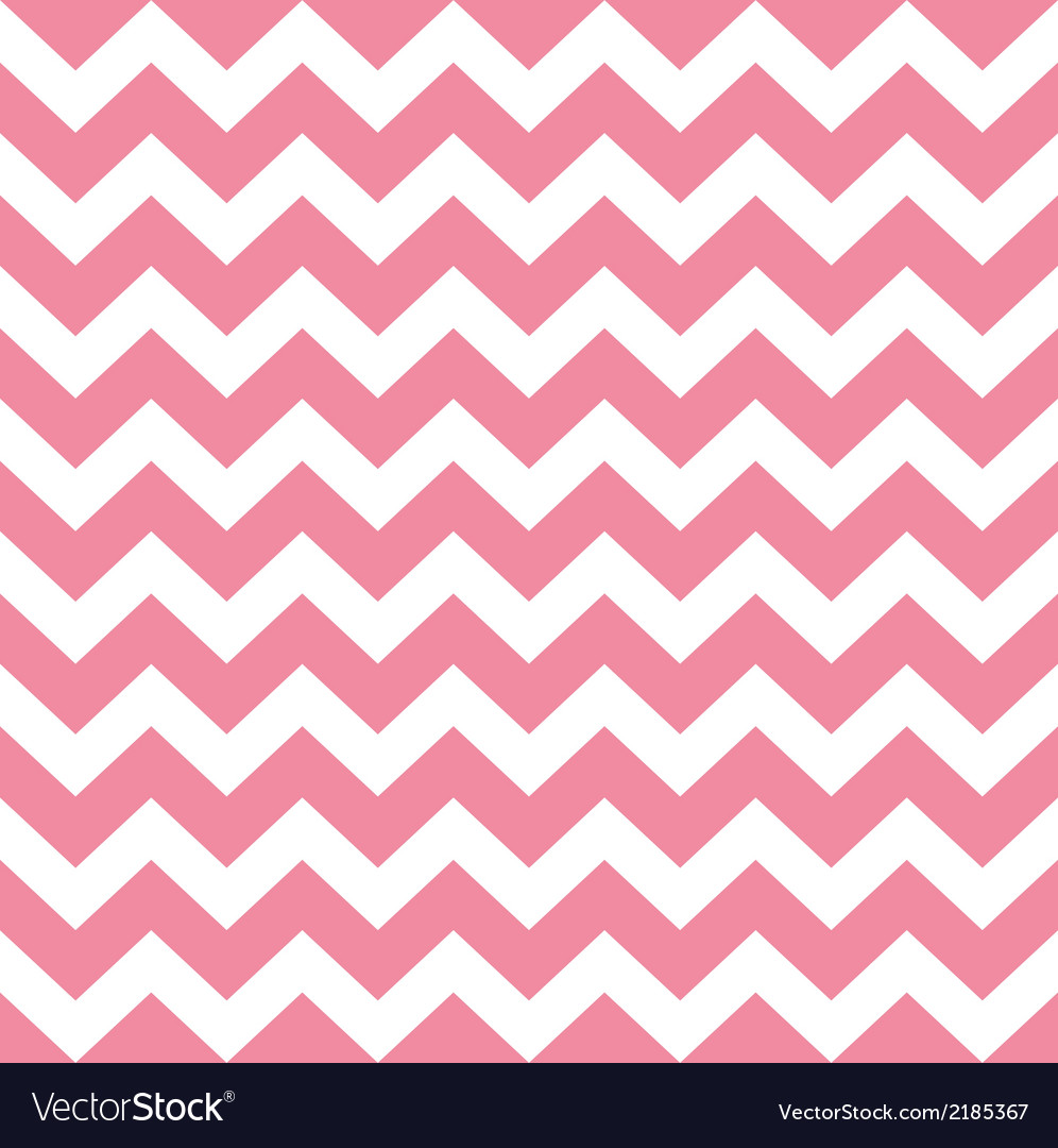Zigzag Pattern In Bapink Isolated On White Vector Image