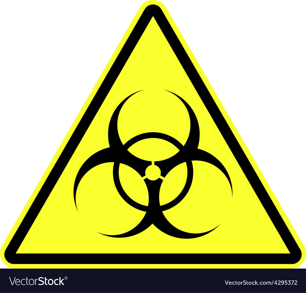 Biohazard Symbol Sign Isolated Royalty Free Vector Image