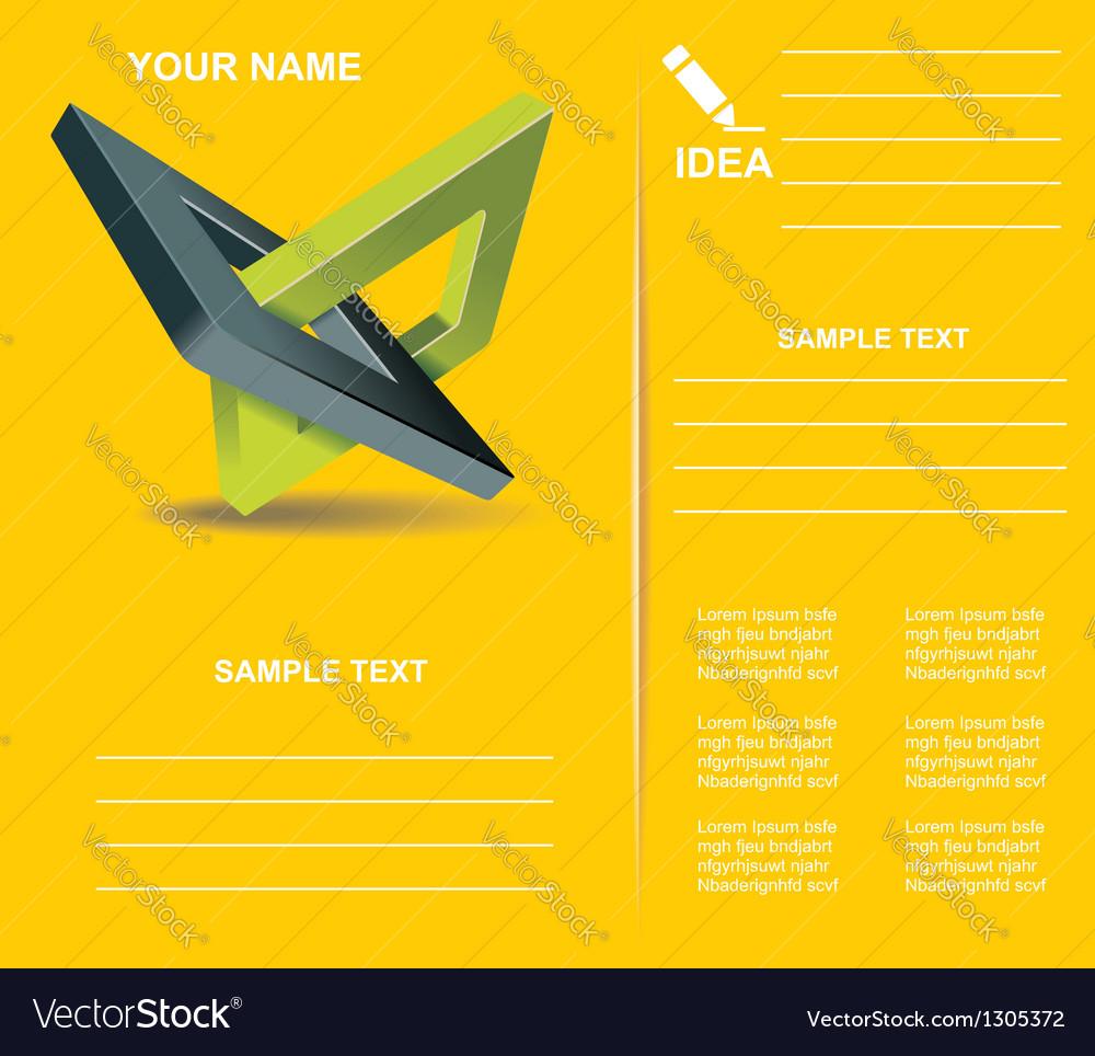 Brochure design with orthogonal rhomb symbols