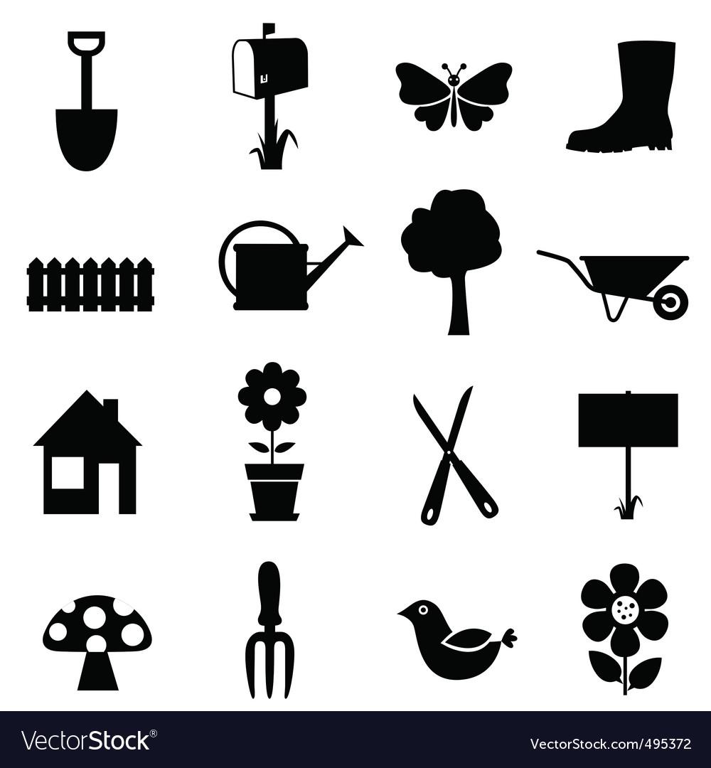 Garden Icons Royalty Free Vector Image