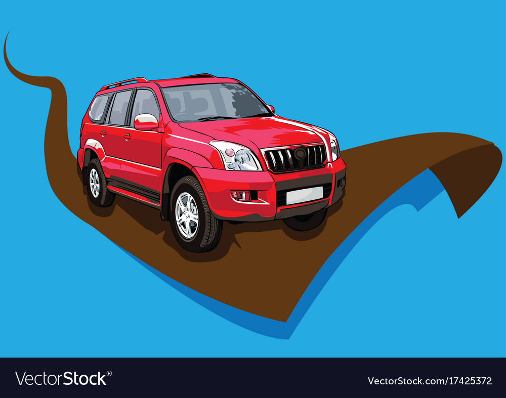 Red car ready for rice vector image