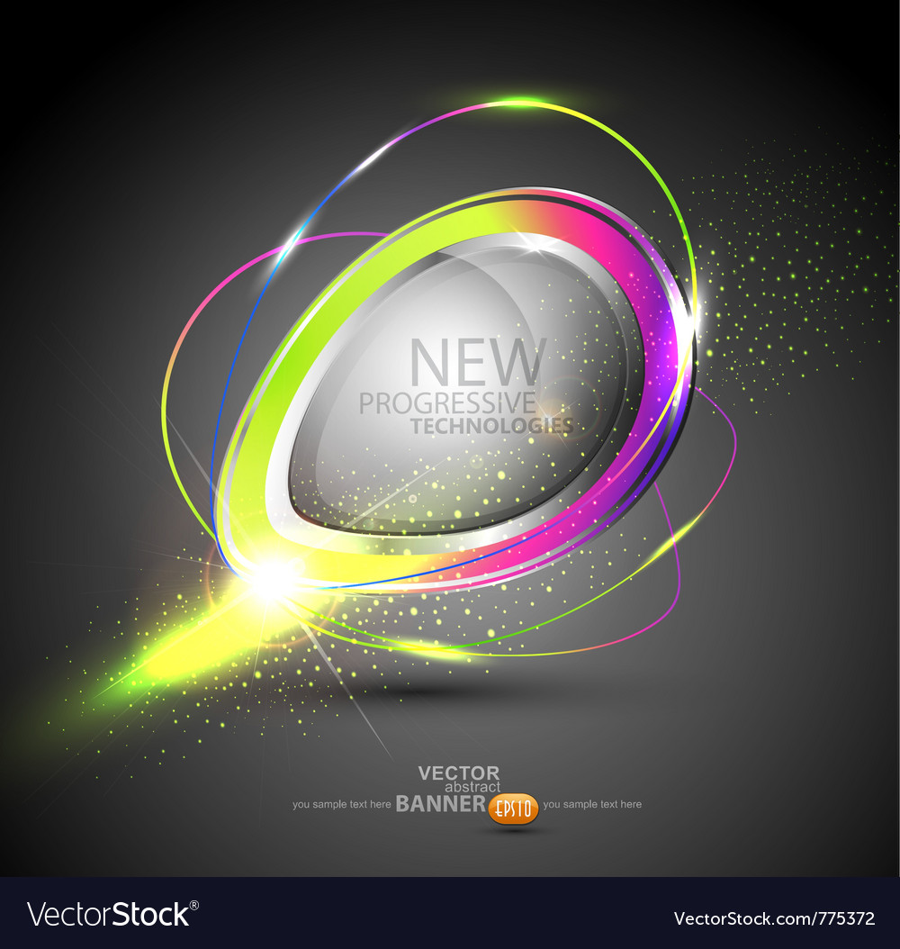 Round color banner vector image