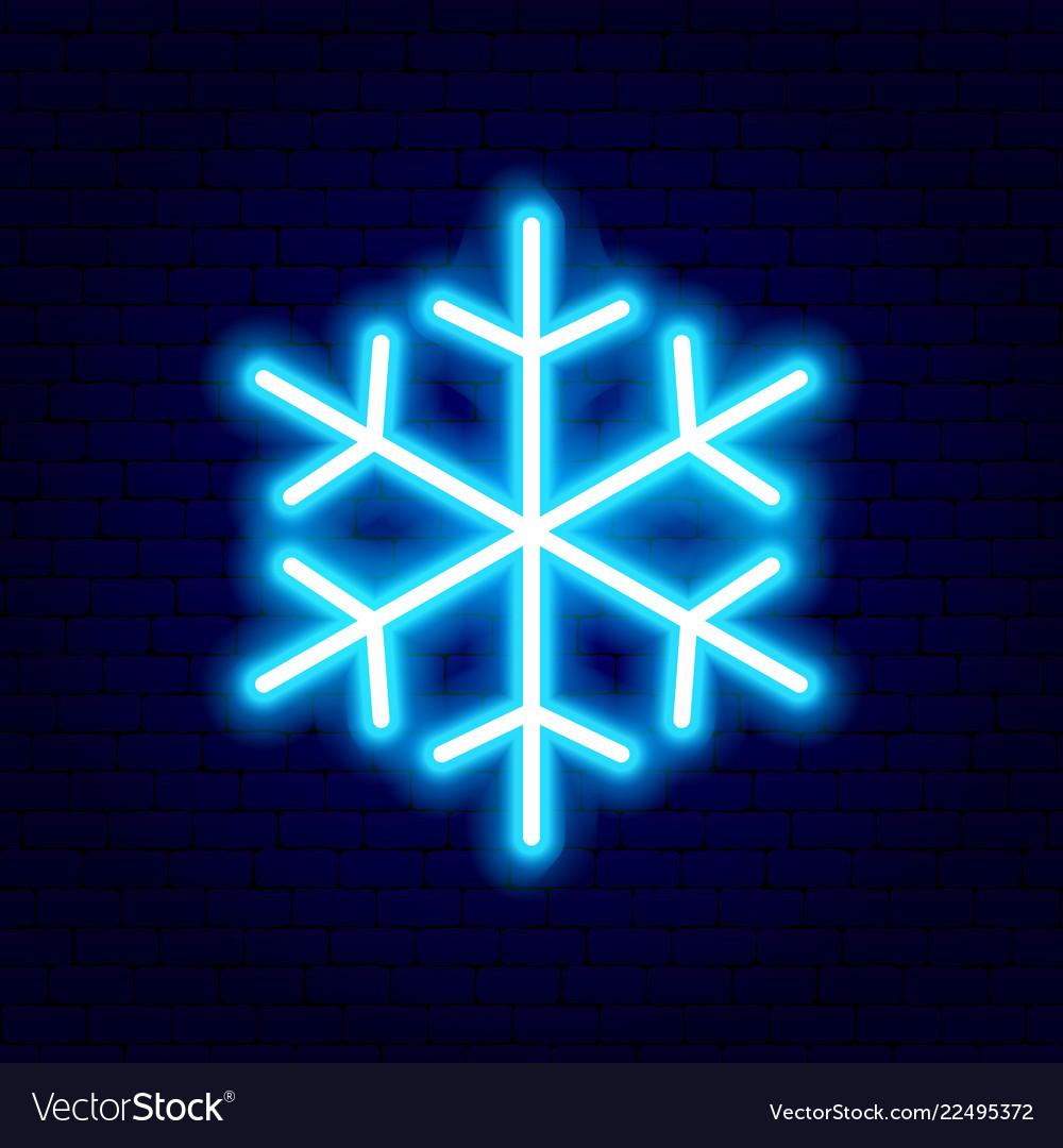 Snowflake neon sign