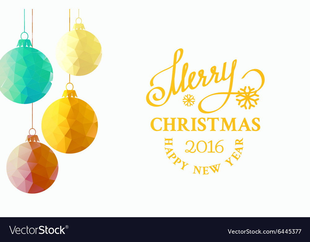 Christmas fir toy vector image