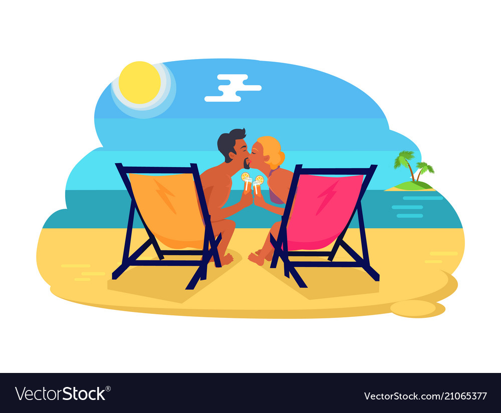 Couple kissing by seaside