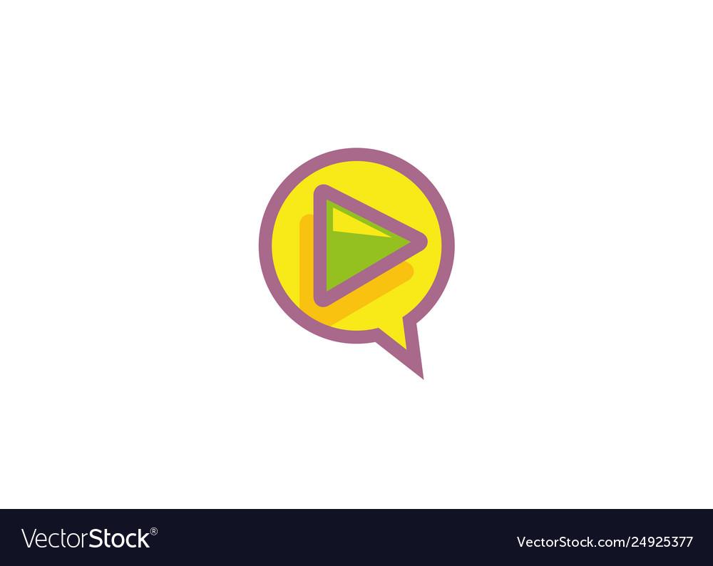 Creative circle play symbol logo