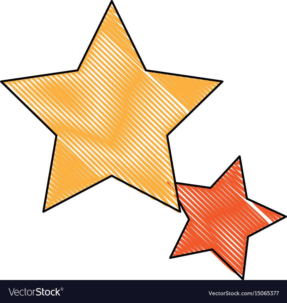 Gold star icon favorite business internet trendy