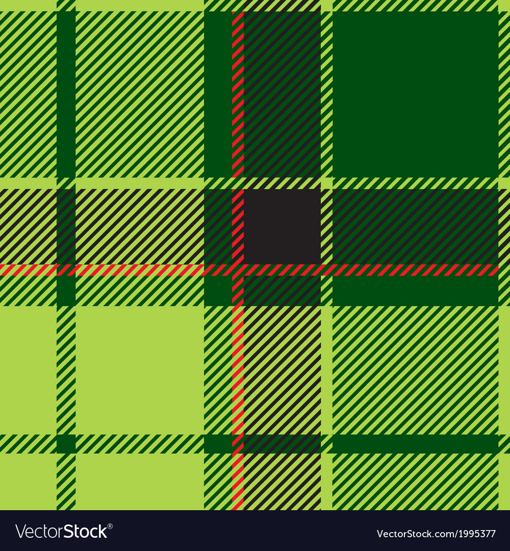 Green Tartan Plaid Design vector image