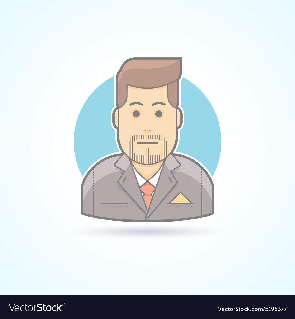 Manager broker sales agent icon Avatar and
