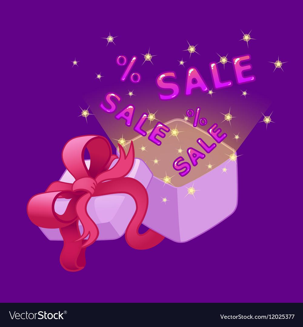 Open gift box Sale