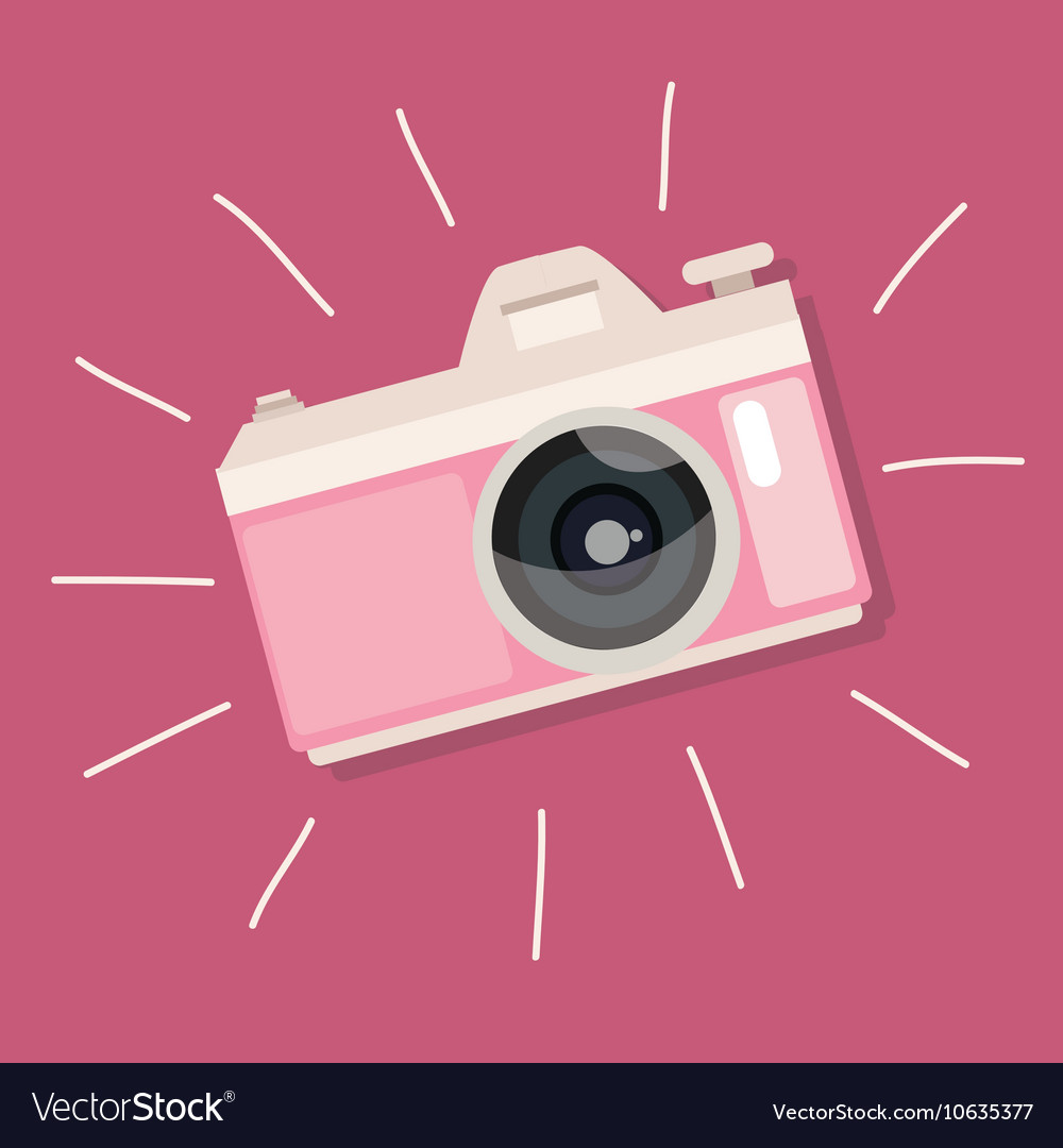 Retro camera pink vintage icon photo