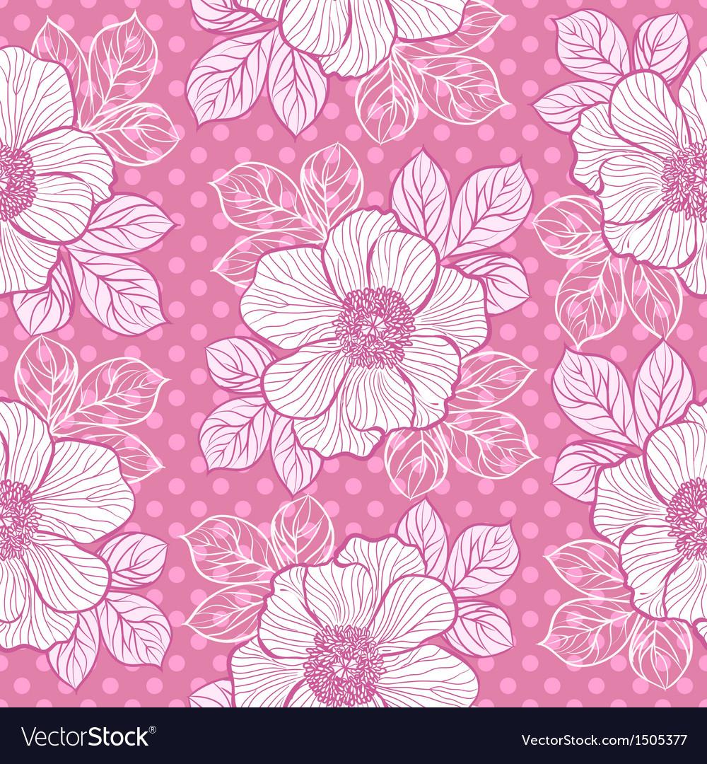 Seamless pattern with peony