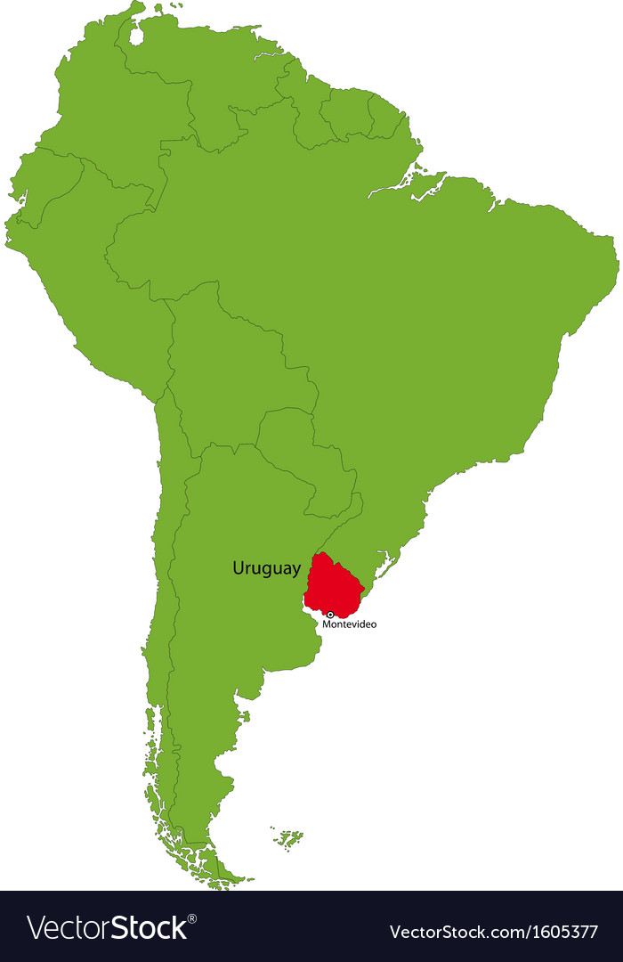 Image of: Uruguay Map Royalty Free Vector Image Vectorstock