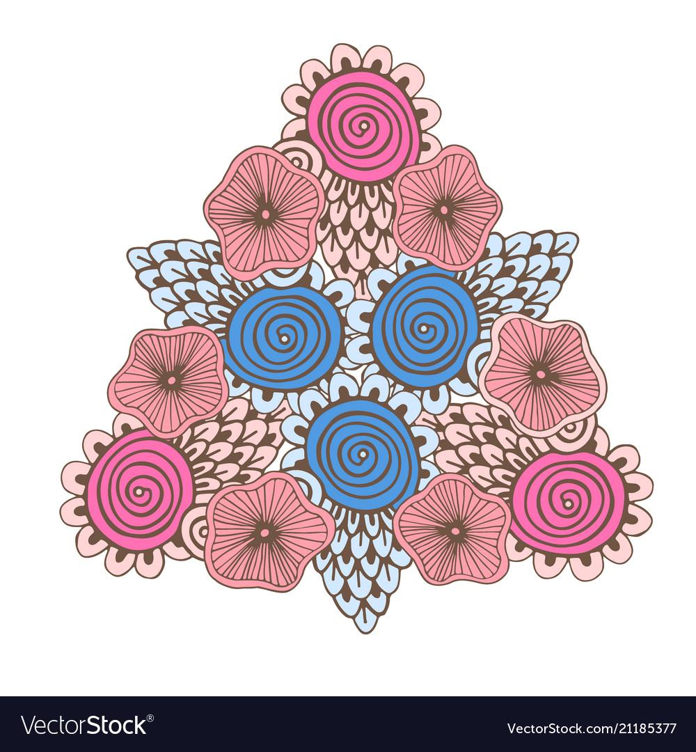 Vintage mandala ornamental tattoo design