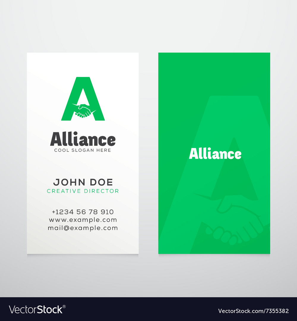 Alliance Abstract Business Card Template or