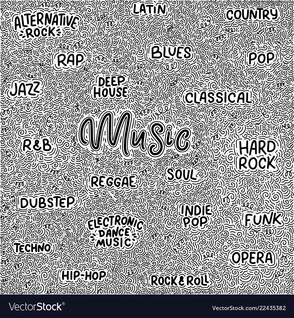 Background about music hand drawn vintage