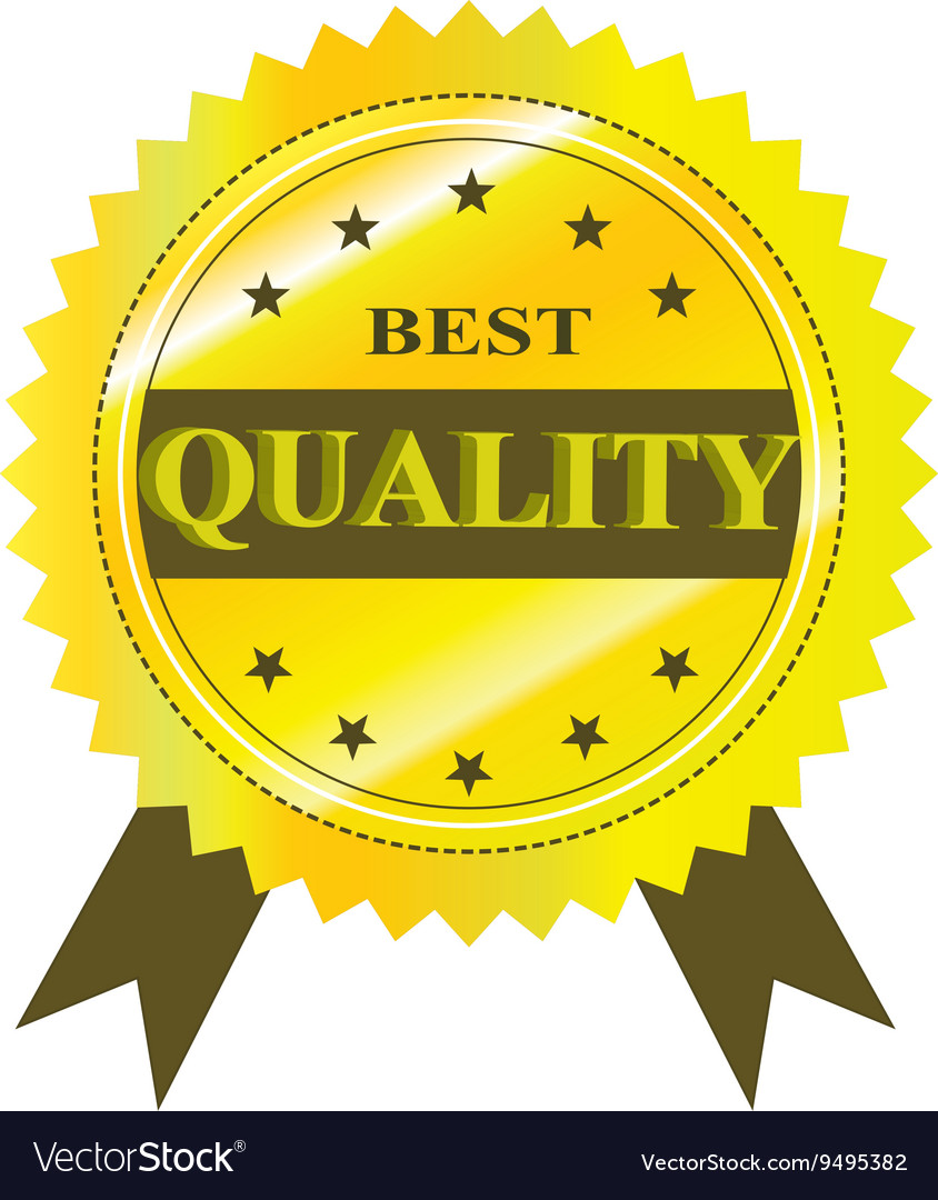 Best Quality Guaranteed Label isolated on a white
