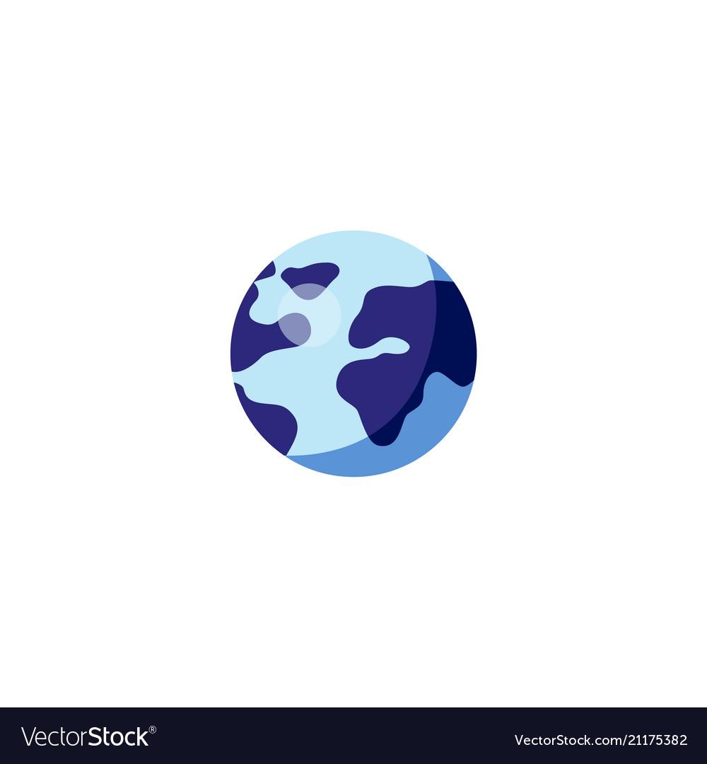Flat globe earth planet icon
