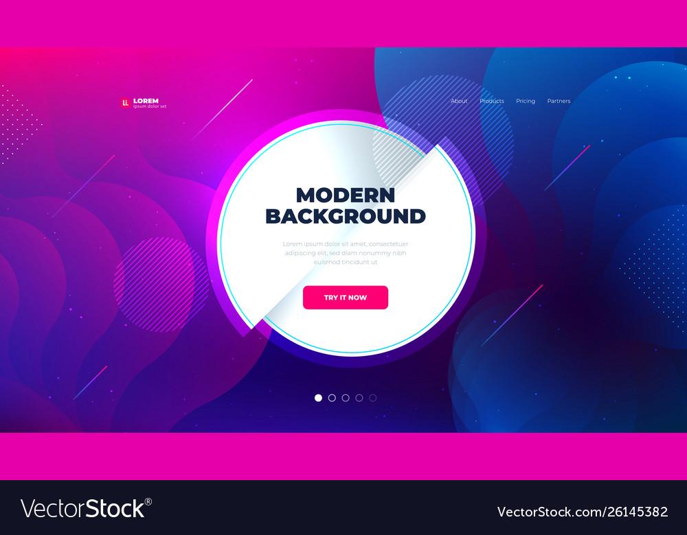 Liquid color background design for landing page