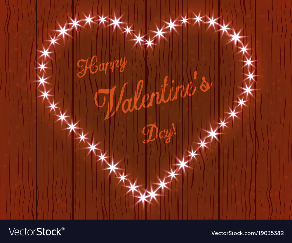 Valentines Day Heart Made Of Lights Royalty Free Vector