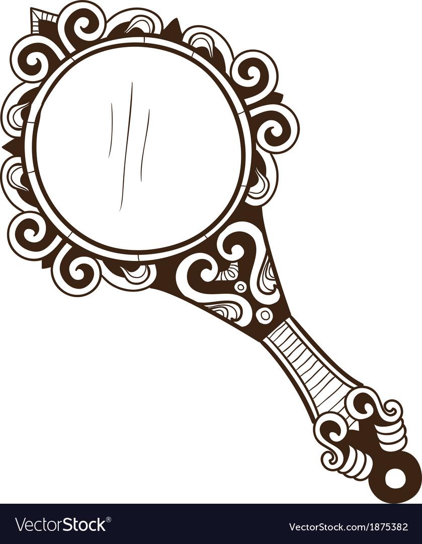 Womens pocket mirror vector image