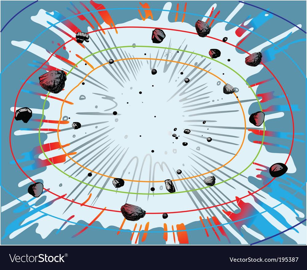Big bang background vector image