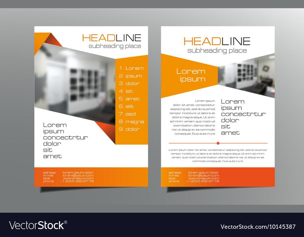 Grey blue brochure flyer template design