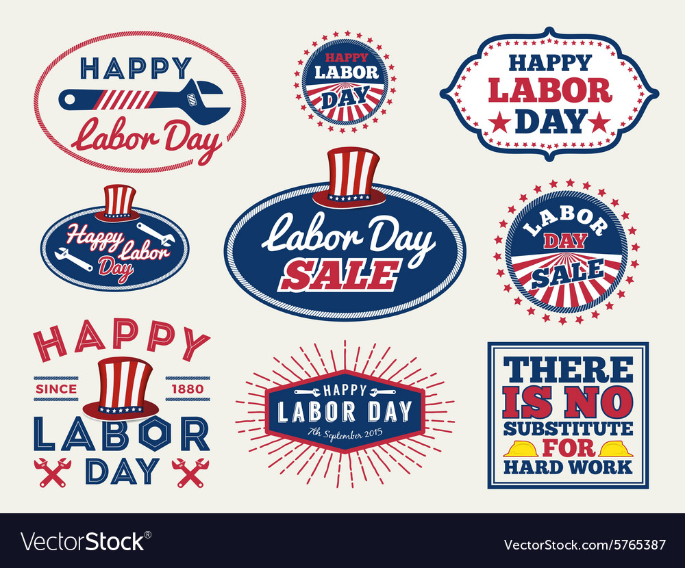 LABOR DAY badge labels collections