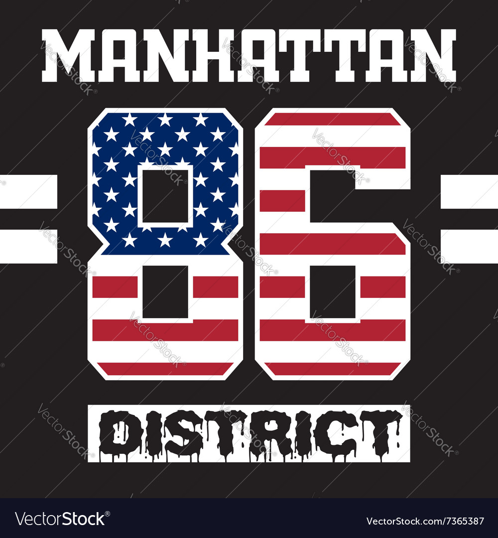 Manhattan district t-shirt