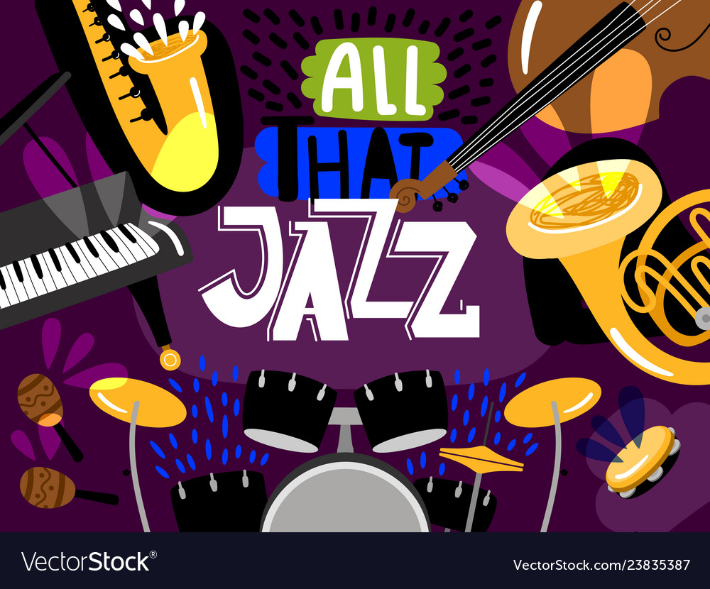 Musical live jazz band concert of banner