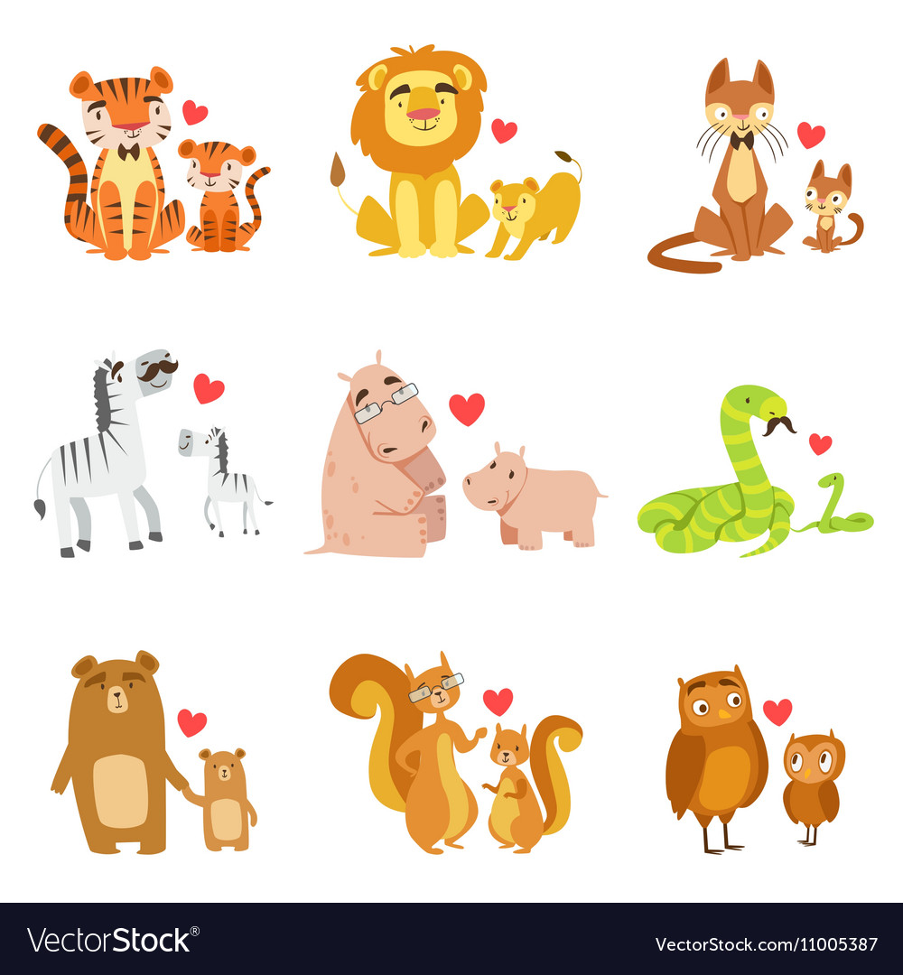 Small Animals And Their Dads Set