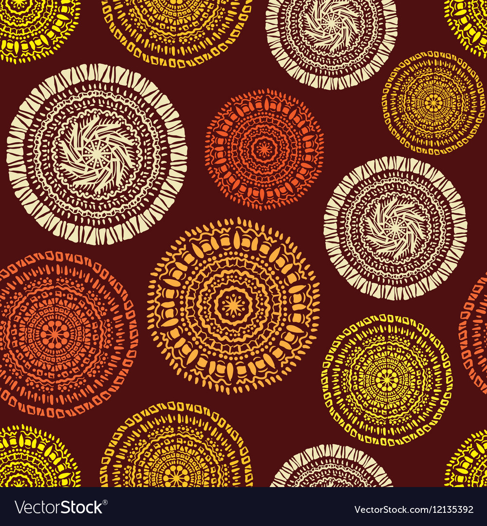 African ethnic seamless pattern vector image