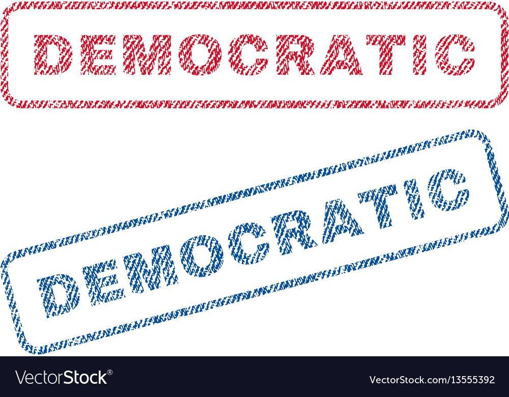 Democratic textile stamps vector image