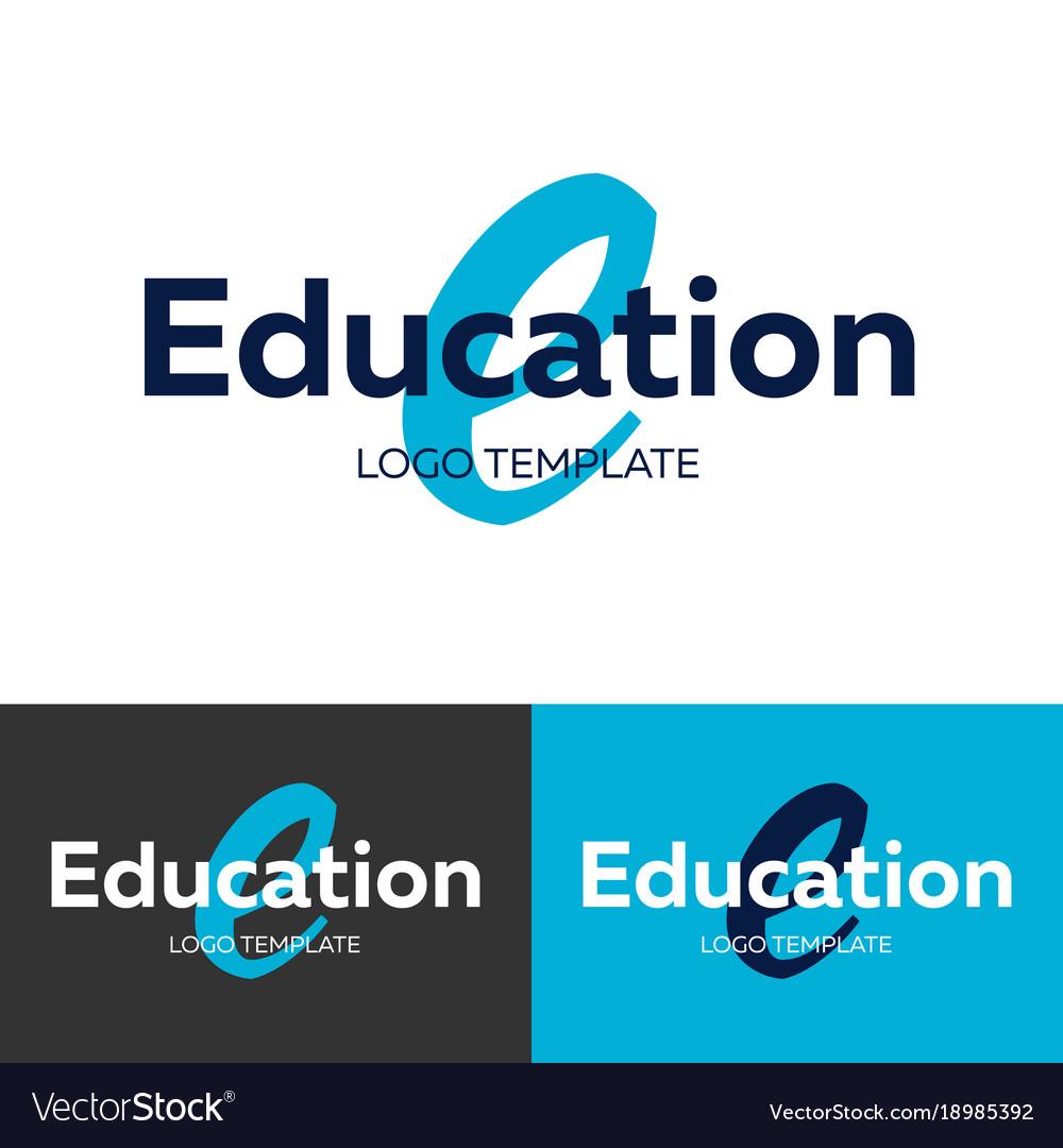 Education logo letter e logo logo