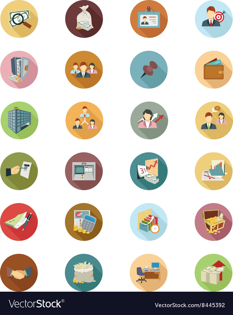 Financial Flat Colored Icons 3